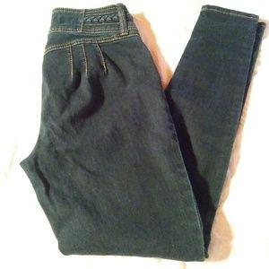 Hydraulic high waisted saddle back skinny jeans